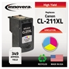 Innovera Remanufactured 2975B001 (CL-211XL) High-Yield Ink, Tri-Color
