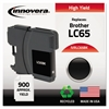 Remanufactured LC65BK High-Yield Ink, Black