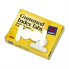 Gummed Index Tabs, 1/2 in, White, 50/Pack