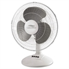 12-Inch Three-Speed Oscillating Desk Fan, Metal/Plastic, White