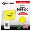 Innovera Remanufactured T068420 (68) High-Yield Ink, Yellow