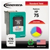 Remanufactured CB337WN (75) Ink, Tri-Color