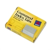 Avery Gummed Index Tabs, 1 x 13/16, Gray, 50/Pack