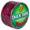 "Duck Colored Duct Tape, 9 mil, 1.88"" x 10 yds, 3"" Core, Pink Zebra"