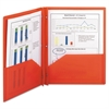 Smead Poly Two-Pocket Folder w/Fasteners, 11 x 8 1/2, Red, 25/Box