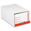 "Universal Storage Box Drawer Files, Letter, Fiberboard, 12"" x 24"" x 10"", White, 6/Carton"