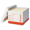 Universal Extra-Strength Storage Box w/Lid, Letter/Legal, 12 x 15 x 10, White, 12/Carton