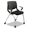HON Motivate Seating Nesting/Stacking Flex-Back Chair, Black/Onyx/Platinum