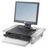 Fellowes Standard Monitor Riser, 19 7/8 x 14 1/16 x 6 1/2, Black/Silver