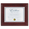 Executive Document/Photo Frame, Desk/Wall Mount, Plastic, 8 1/2 x 11, Mahogany