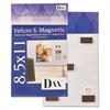 DAX Velcro Magnetic Cubicle Photo Document Frame, Acrylic, 8 1/2 x 11, Clear