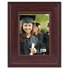Executive Document/Photo Frame, Desk/Wall Mount, Plastic, 5 x 7, Mahogany