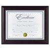 DAX Prestige Document Frame, Rosewood/Black, Gold Accents, Certificate, 8 1/2 x 11