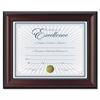 Rosewood Document Frame, Wall-Mount, Plastic 8 1/2 x 11