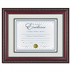 DAX World Class Document Frame w/Cert, Rosewood, 11 x 14, 8 1/2 x 11