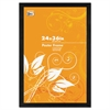 Black Solid Wood Poster Frames w/Plastic Window, Wide Profile, 24 x 36