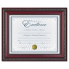 DAX World Class Document Frame w/Certificate, Rosewood, 8 1/2 x 11