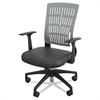 BALT Mid-Back Fly Chair, 27w x 26-1/2d x 37-1/2 to 41h, Gray/Black