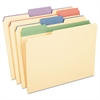"Pendaflex Color Tab File Folders, 1/3 Cut, 3/4"" Exp., Letter, 12/PK"