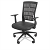 Mid-Back Fly Chair, 27w x 26-1/2d x 37-1/2 to 41h, Black