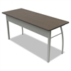 Linea Italia Trento Line Rectangular Desk, 59-1/8w x 23-5/8d x 29-1/2h, Mocha/Gray