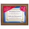 Leatherette Document Frame, 8-1/2 x 11, Espresso Brown, Pack of Two