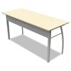 Trento Line Rectangular Desk, 59-1/8w x 23-5/8d x 29-1/2h, Oatmeal
