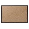 Classic Cork Bulletin Board, 60x36, Black Aluminum Frame