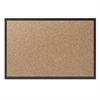 Classic Cork Bulletin Board, 72x48, Black Aluminum Frame