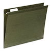 Universal Reinforced Recycled Hanging Folder, 1/3 Cut, Letter, Standard Green, 25/Box