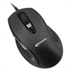 Full-Size Wired Optical Mouse, USB, Black