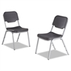 Rough N Ready Series Original Stackable Chair, Charcoal/Silver, 4/Carton