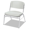 Iceberg Rough N Ready Series Big & Tall Stackable Chair, Platinum/Silver, 4/Carton