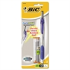 BIC Automatic Mechanical Pencil, 0.7mm, Clear/Blue