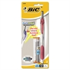 BIC Automatic Mechanical Pencil, 0.5mm, Clear/Burgundy Accents