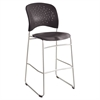 Rêve Series Bistro Chair, Molded Plastic Back/Seat, Steel Frame, Black