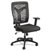 Safco Voice Series Task Chair, Plastic Back, Upholstered Seat, Black Seat/Back