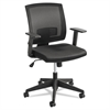 Mezzo Series Task Chair, Mesh Back, Upholstered Seat, Black Seat/Back