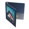 "Framed View Heavy-Duty Binder w/Slant Rings, 11 x 8 1/2, 1/2"" Cap, Navy Blue"