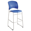 Safco Rêve Series Bistro Chair, Molded Plastic Back/Seat, Steel Frame, Lapis