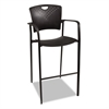 Oui Series Stacking Stool, 23w x 23-1/2d x 44-3/4h, Black