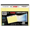 Roaring Spring WIDE Landscape Format Writing Pad, College Ruled, 8 x 6, Canary, 40 Sheets