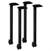 HON Huddle Series Post Leg Base with Casters, 1-3/4w x 1-3/4d x 28-3/8h, Black