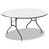 Premium Wood Laminate Folding Table, 60 Dia. x 29h, Gray Top/Charcoal Base