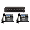 25800 Eight-Line Corded Office Phone System, Router and 2 Corded Base Stations