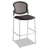 Diaz Bistro Chair, Mesh Back/Fabric Seat, Black