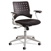 Safco Rêve Series Task Chair, Square Plastic Back, Polyester Seat, Black Seat/Back