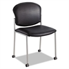 Safco Diaz Guest Chair, Black Vinyl