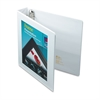 "Framed View Heavy-Duty Binder w/Locking 1-Touch EZD Rings, 1 1/2"" Cap, White"