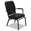 Oversize Stack Chair with Arms, Black Anitmicrobial Vinyl Upholstery, 2/Carton